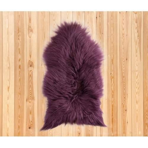 Natürlicher Lammfell Teppich 90x60 cm lila Zerimar - 2