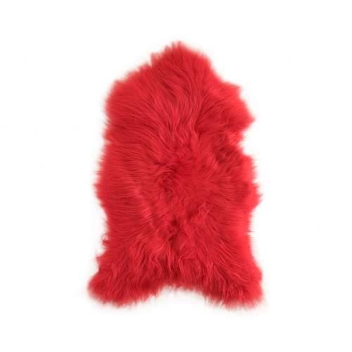 Natürlicher Lammfell Teppich rot 90x60 cm Zerimar - 1