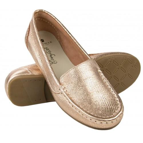 Loafer aus Leder mit...